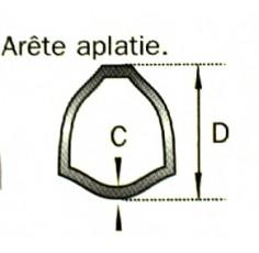 TUBE TRIANGLE 54X4  LE METRE