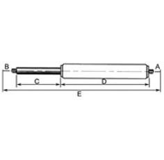 VERIN DE CABINE LG360 C130 190N
