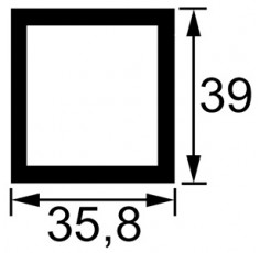 TUBE RECTANGULAIRE LG.1 METRE DIM. 35,8