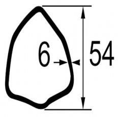 TUBE TRIANGULAIRE LG.1 METRE  DIM. 54