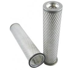 Filtre à air sécurité pour tractopelle JCB 4 CN moteur PERKINS 337001->399999 AC 50383/50290
