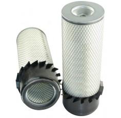 Filtre à air primaire pour tractopelle FIAT HITACHI FB 200.2 moteur FORD 96 CH