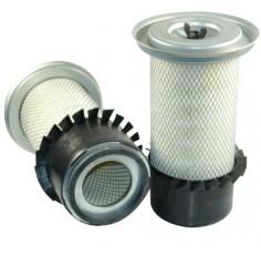 Filtre à air primaire pour tractopelle JCB 4 CN moteur PERKINS 337001->399999 AC 50383/50290