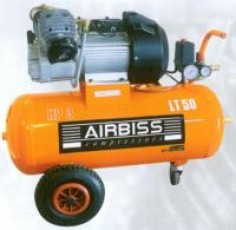 Compresseur Bâtiment PRO 3cv 50L - Cuve Horizontale - 22m3/h - 230V-50Hz - 10 Bars