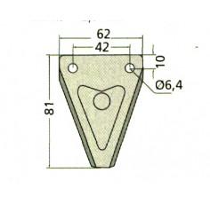SECTION AVEC ERGOT lg63 par 20