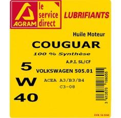 HUILE COUGUAR 5W40 60L