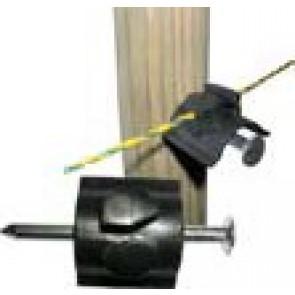 Isolateur pour fil à clouer sur piquet bois (livré avec clou) Crebox de 50