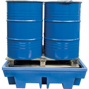 BAC DE RETENTION BLEU PE 2 FUTS 240L 1220X820X330
