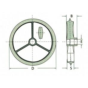 DISQUE CAMBRIDGE ONDULE 50x430 larg : 100 qualité FONTE