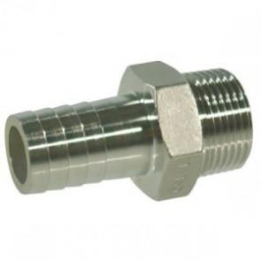 Raccord de tuyau inox 19mm x M