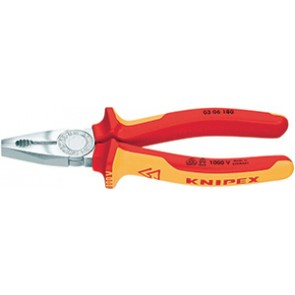PINCE UNIVERSELLE CHROMEE 160MM ISOLEE 1000V KNIPEX