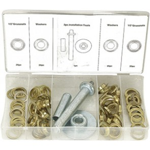 ASSORTIMENT 100 OEILLETS+OUTIL POSE