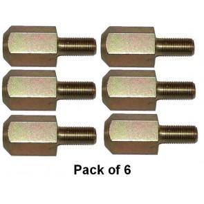 Teton de Goujon de roue avant 1/2 ''Front - 6 pièces