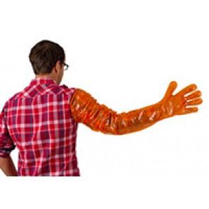Gants de vélage VETbasic 90cm orange bte