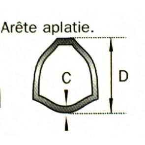 TUBE TRIANGLE 29X4  LE METRE