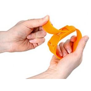 Bracelet plastique orange
