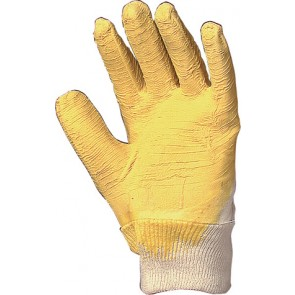 GANT ENDIAMETRE LATEX JAUNE -ANTI-COUPURES