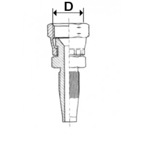 EMBOUT JIC CONE 74   3/8