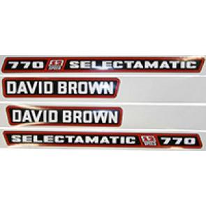 KIT AUTOCOLLANT David Brown 770