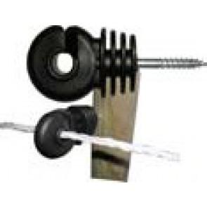 Crochet noir isolant à vis crochet métal (boite de 25)