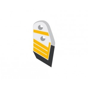 Pointe droite avec plaquette latérale et rechargement pour soc de charrue marque Kuhn Huard - EA 52 - Diamètre 12.00mm