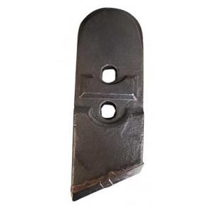 Pointe droite avec plaquettes carbure et renfort acier pour soc de charrue marque Kverneland - EA 40 - Diamètre 12.00mm