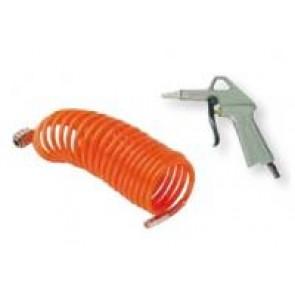 Kit soufflage pneumatique: Soufflette bec court et tuyau 6/8 nylon 3m50