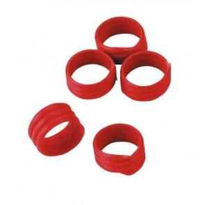 Bague d'identification 16mm rouge coque