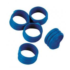 Bague d'identification 16mm bleu coque d