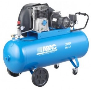 Compresseur pneumatique bi-étagé PRO à courroie 4cv - 200L - 31m3/h - 400V-50Hz - 11 Bars