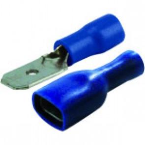 COSSES PLATES M/F ISOLEES BLEU BOX DE 20