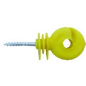 crochet jaune avec vis pour cloture