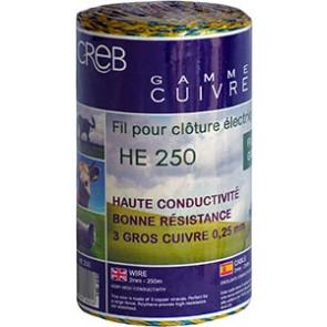 FILS CUIVRE HYPER ELEC JAUNE/BLEU 250M