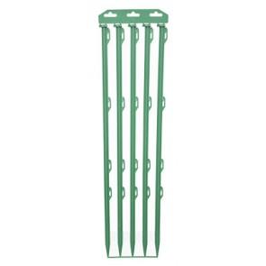 Botte de 5 piquets isolants verts 0,72m / Polyéthylène + Fibre de verre