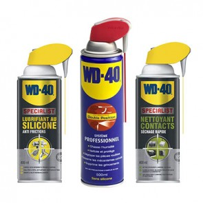 KIT 3 AEROSOLS SILICONE CONTACT WD40