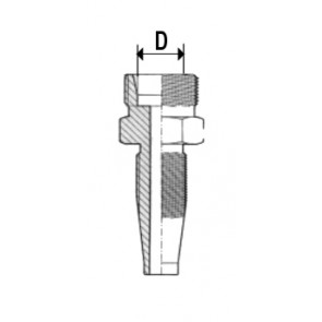 EMBOUT MALE T GAZ C  24