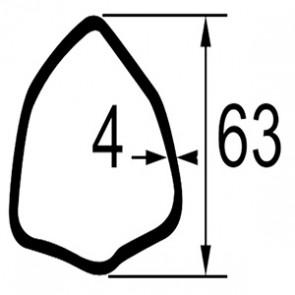 TUBE TRIANGULAIRE LG.1 METRE  DIM. 63