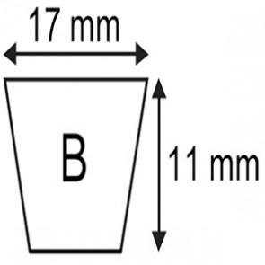 COURROIE  B38  17x11x1000