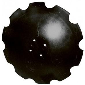 DISQUE CRENELE Diam 610x5 en 4 Trous Fond Plat (disque adaptable AGRISEM)