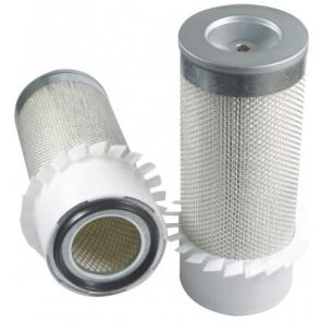 Filtre à air primaire pour tractopelle CASE-POCLAIN 580 SK moteur CUMMINS 4 BT TURBO