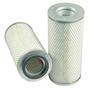 Filtre à air sécurité pour moissonneuse-batteuse CASE 1680 moteurCASE
