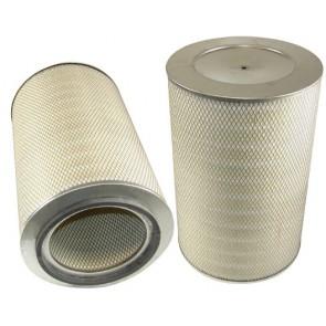 Filtre à air primaire pour moissonneuse-batteuse DEUTZ-FAHR 4065 H TOPLINER moteurDEUTZ 205 CH BF 6 L 913 C