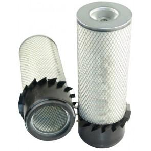 Filtre à air primaire pour tractopelle FIAT HITACHI FB 110 moteur FORD