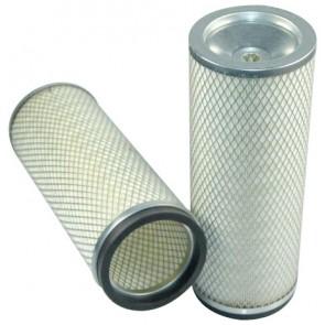 Filtre à air sécurité pour chargeur FIAT HITACHI W 170 moteur CUMMINS 470101-> 6 CT 8.3