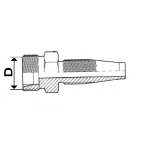 EMBOUT GAZ C 24 5/16 AGHYD6400