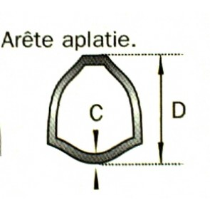 TUBE TRIANGLE 45X4  LE METRE