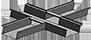 Caniveau forme croix