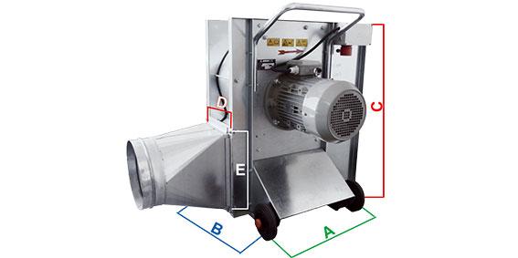 Dimensions ventilateur Jet Wind