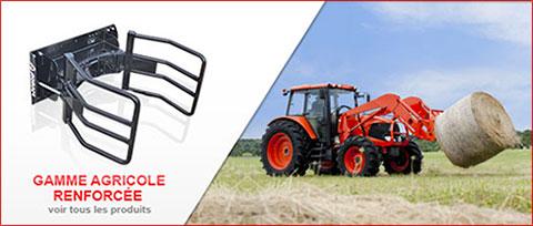 Voir toute la gamme agricole d'outils de chargeur Agram