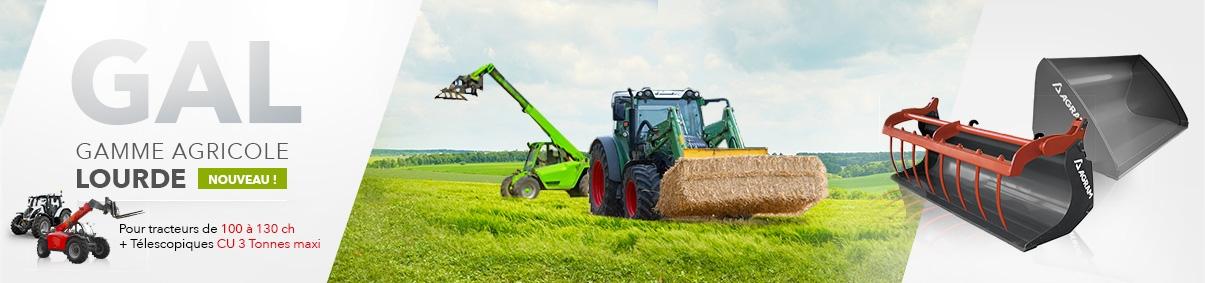 Outils de chargeur gamme agricole lourde